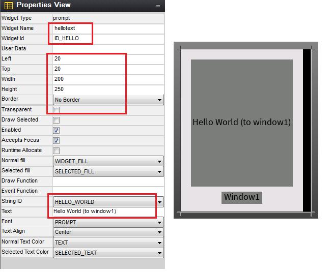 Rys. 50. Konfiguracja Propmpt hellotext – ekran window 2