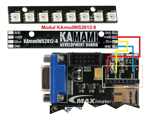 Fot. 2. Sposób dołączenia LED-RGB do zestawu maXimator