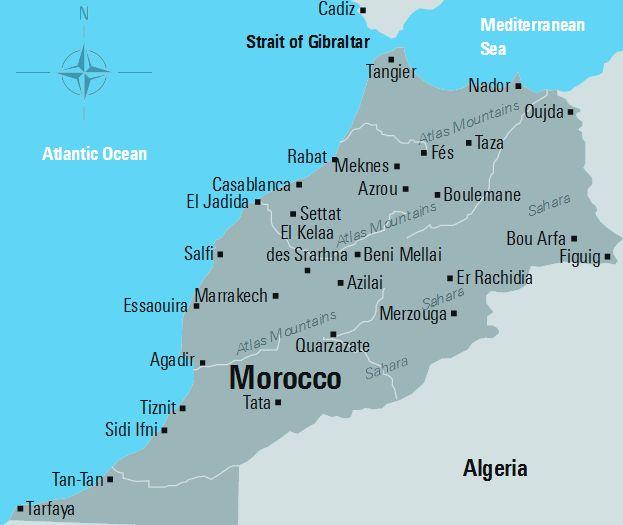 Rys. 1. Mapa Maroka