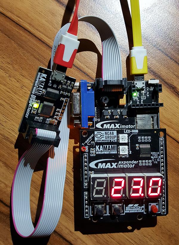 Fot. 3. Przykładowy wynik pomiaru temperatury, wyświetlany na 4-pozycyjnym wyświetlaczu LED