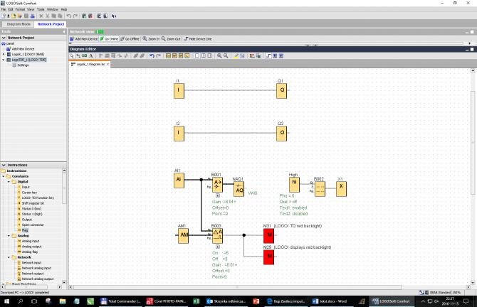 Rys. 3. Schemat przykładowego programu testowego