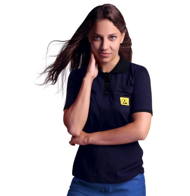 Koszulka Polo antystyczna Reeco z krótkim rękawem_640x640