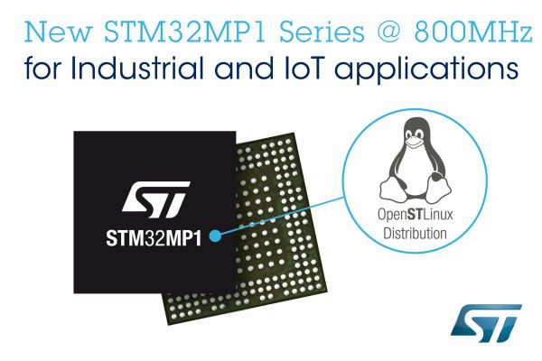Nowe STM32MP1 800 MHz