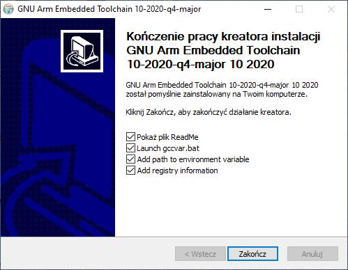 Oznaczanie zmiennej PATH podczas instalacji ARM GCC