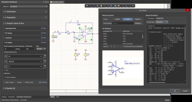 Nowy panel Simulation Dashboard i okno Sim Model