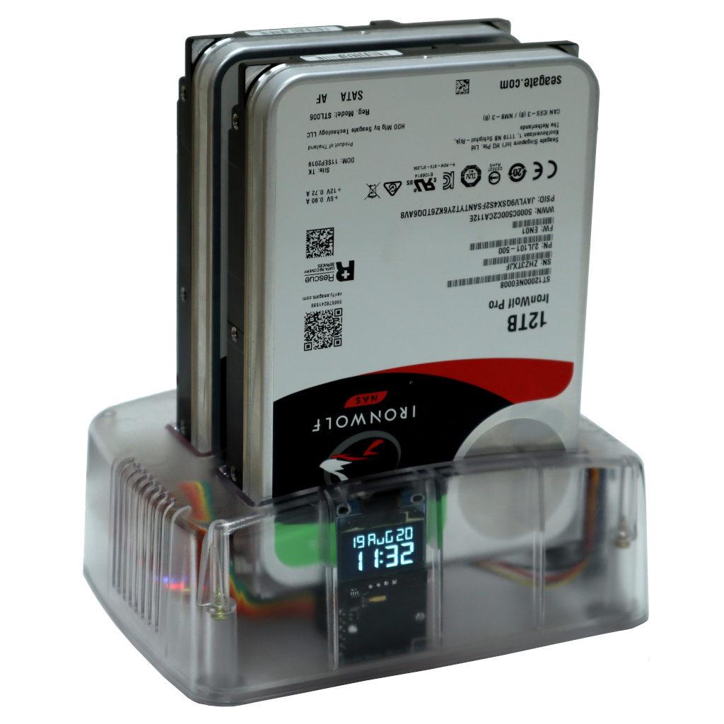 Odroid HC4 z dwoma dyskami HDD