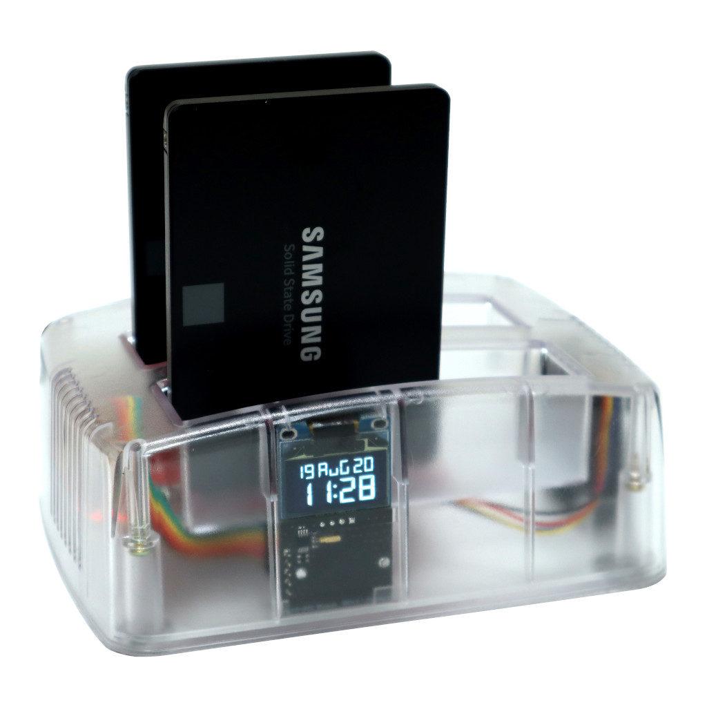 Odroid HC4 z dwoma dyskami SSD