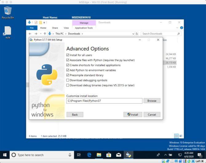 Oznaczanie zmiennej PATH podczas instalacji pakietu Python