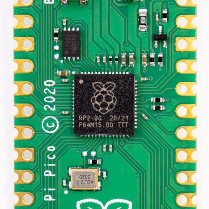Układ RP2040 zamontowany na Raspberry Pi Pico