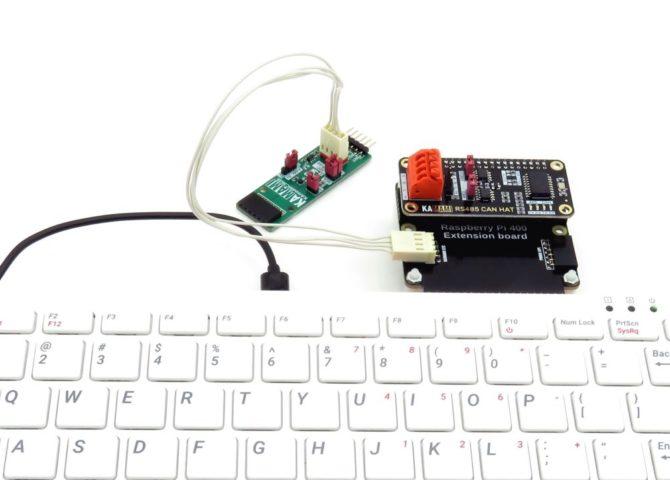 Moduł KAmodMC3635 podłączony do złącza KAmod I2C