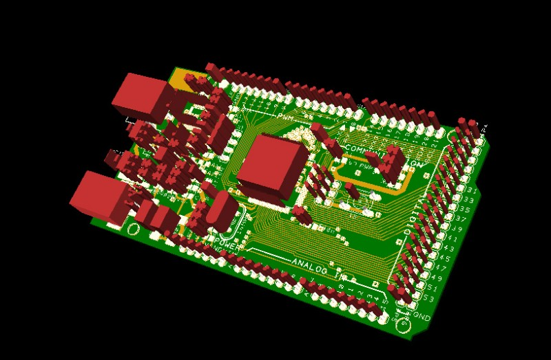 Konwerter PCB DesignSpark dla Google SketchUp: PCB w 3D